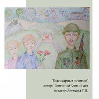 Выставка детских работ ко дню Победы